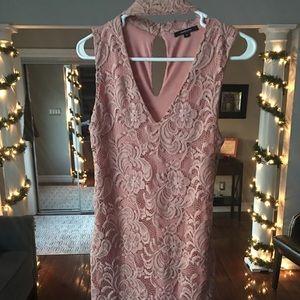 Salmon tight dress
